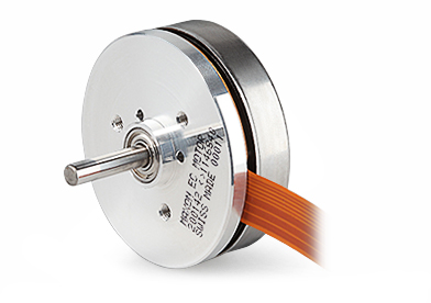 Brushless DC motors with a flat design