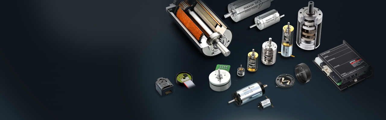 Brushed DC and brushless DC motors, gearheads, encoders and motor controllers:  A one-stop-shop for your individual motor and drive solution