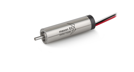 The 16mm diameter brushless DC motors (or ECX 16 SPEED) have been optimised for high speeds (up to 120,000 rpm)